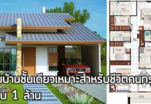 แบบบ้านราคาไม่เกินล้าน,บ้านชั้นเดียวสวยๆ,สร้างบ้านชั้นเดียว,บ้านเดี่ยวชั้นเดียว